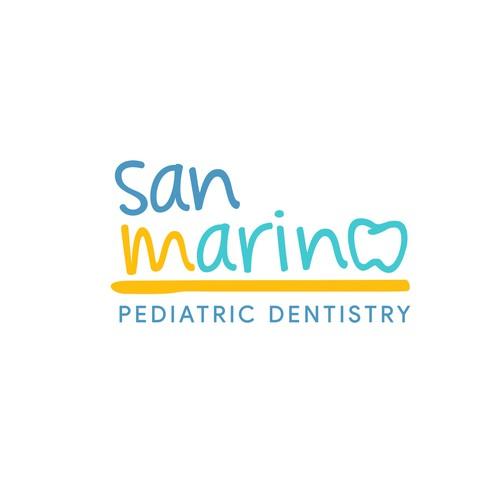 Pediatric design with the title 'San Marino Pediatric Dentistry'