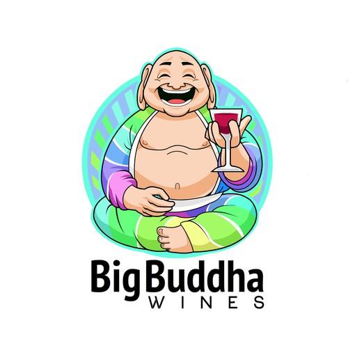 Buddha design with the title 'Big Budha Wines'