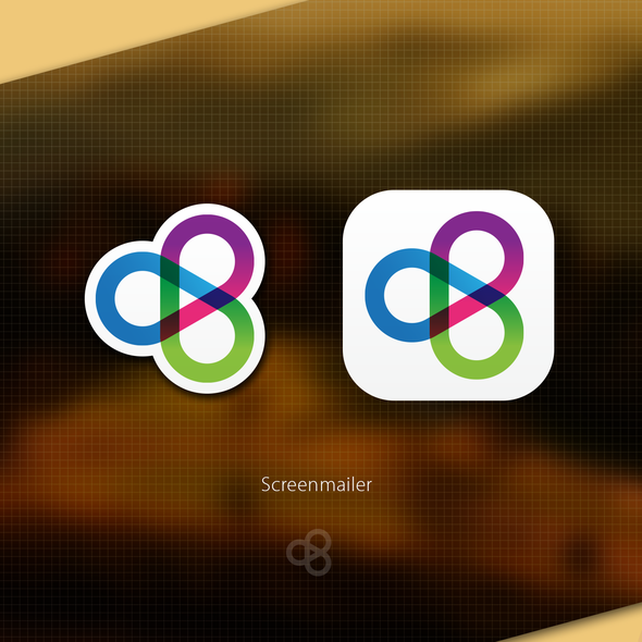 Private design with the title 'Create a stylish icon for Screenmailer's new desktop apps'