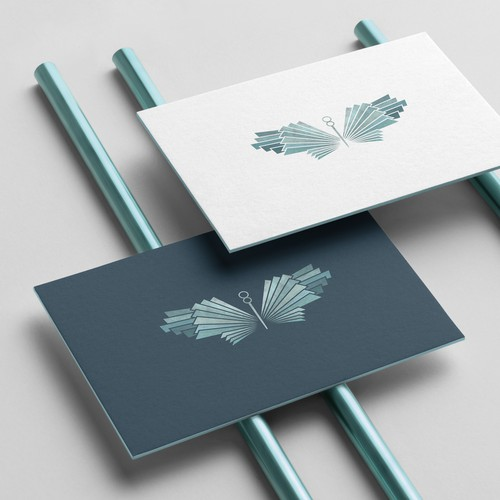Butterfly design with the title 'Geometric wings'