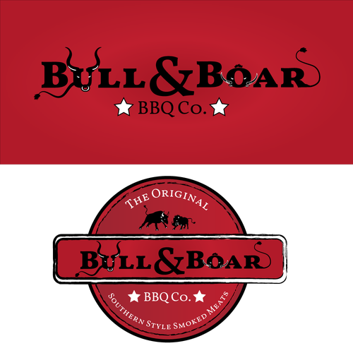 Wild boar logo with the title 'BBQ logo'