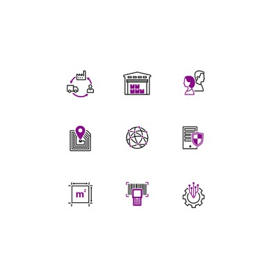 Logistc icons set