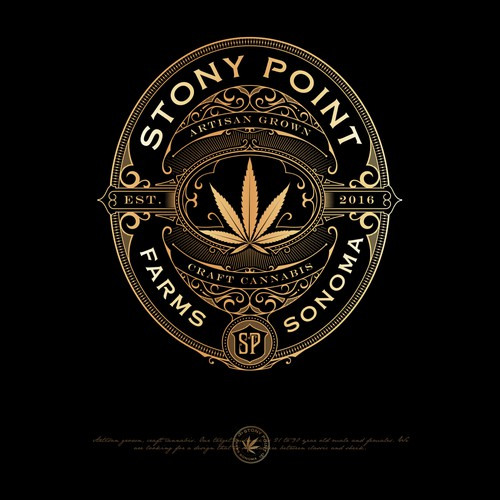 Victorian logo with the title 'STONY POINT LOGO PROPOSAL'