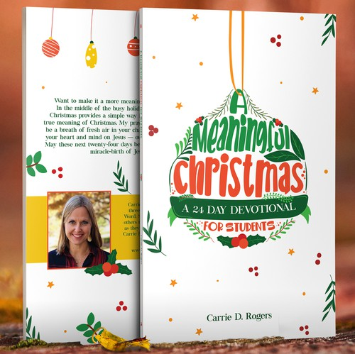 Christmas book cover with the title 'A Meaningful Christmas'