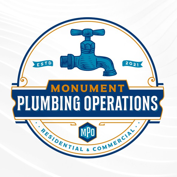 Plumbing brand with the title 'Monument Plumbing Operations'