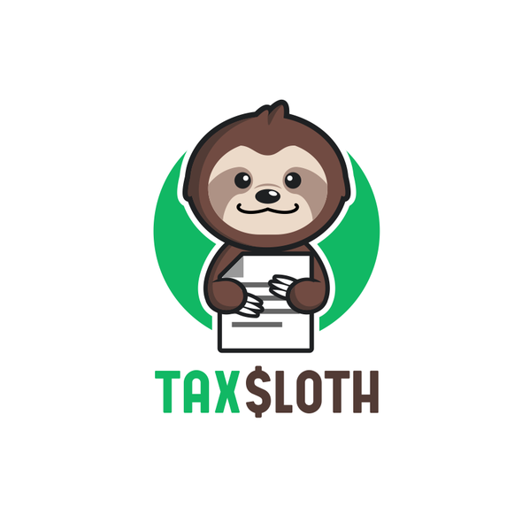 Accountant logo with the title 'Accountant Sloth'