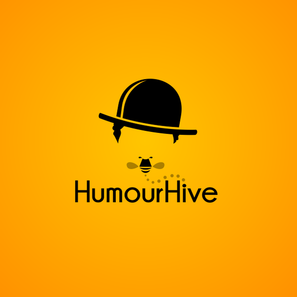 Comedy logo with the title 'HumourHive needs a quirky new logo!'