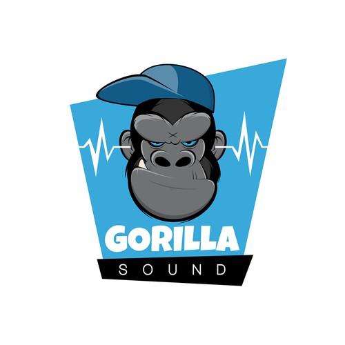 Ape design with the title 'Gorilla Sound'