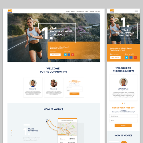 Inspirational design with the title 'Bold Website design '