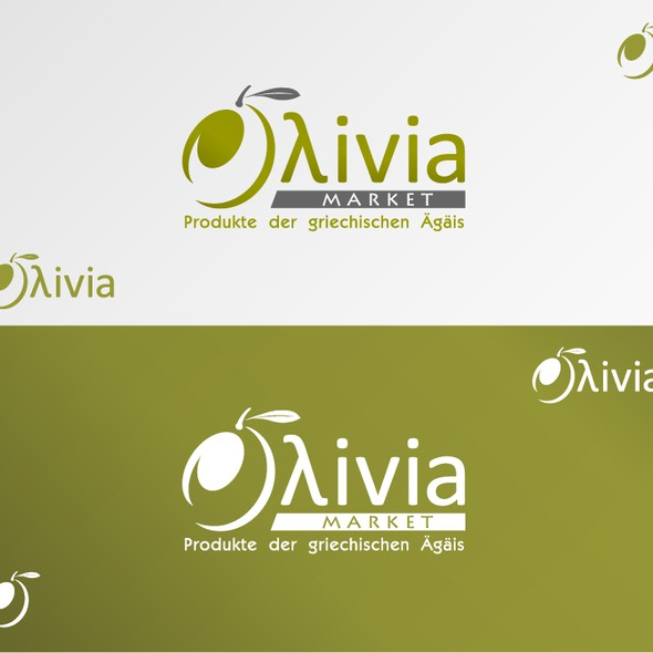 Greek logo with the title 'New logo wanted for Oλivia Market'