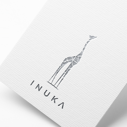 Silver design with the title 'Logo for Inuka'