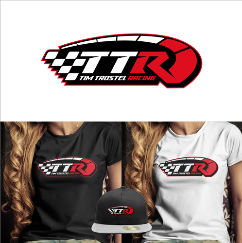 Racing team logo with the title 'Tim Trostel Racing'