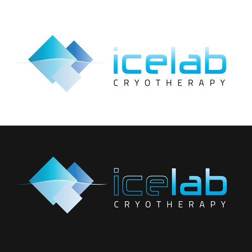 Iceberg design with the title 'Cryotherapy Logo'