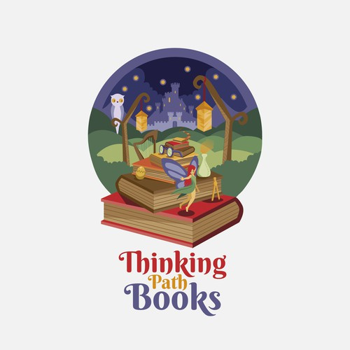 Fairy logo with the title 'Thinking Path Books'