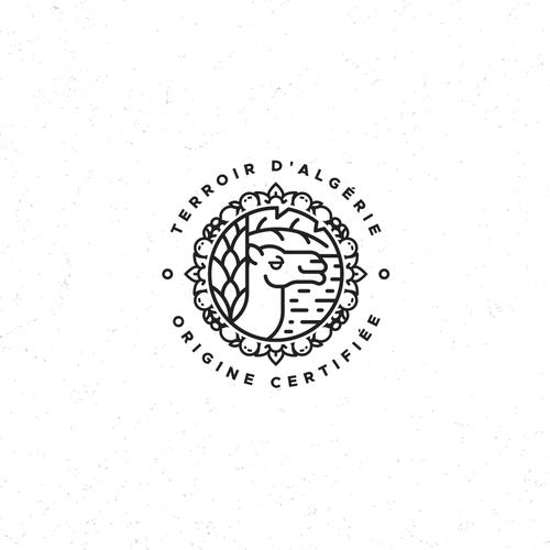 Logo with the title 'Algeria Certificate Of Origin'
