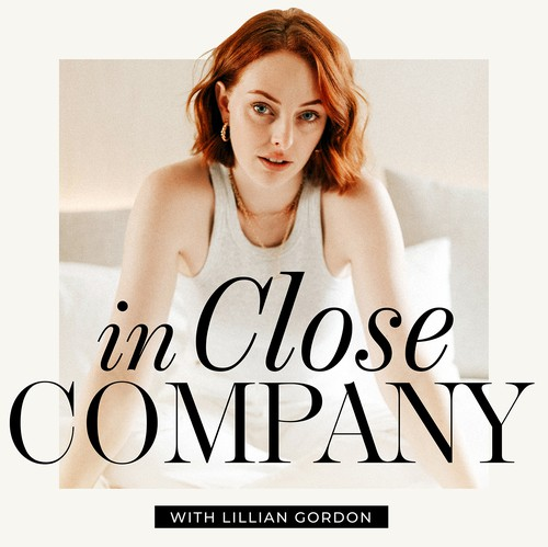 Editorial design with the title 'In Close Company Podcast'