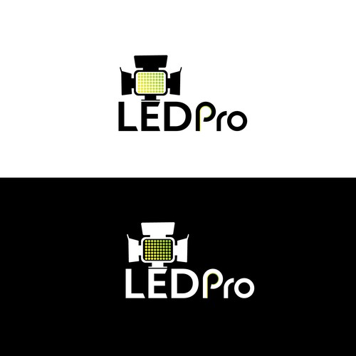 LED lighting design with the title 'LEDPro'