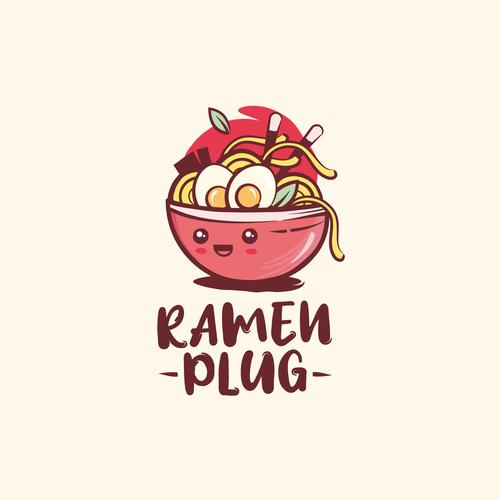 Kawaii logo with the title 'Kawaii/street style ramen logo '