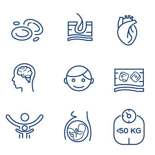Vector design with the title 'Medical website icons'
