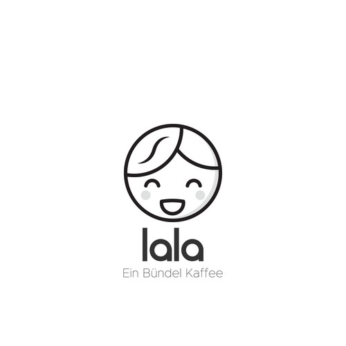 "Trolley logo with the title 'Logo for coffee cart ""Lala""'"