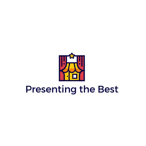 Curtain logo with the title 'Presenting The Best'