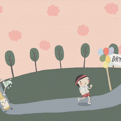 Whimsical artwork with the title 'cartoon style illustration for a blog article'