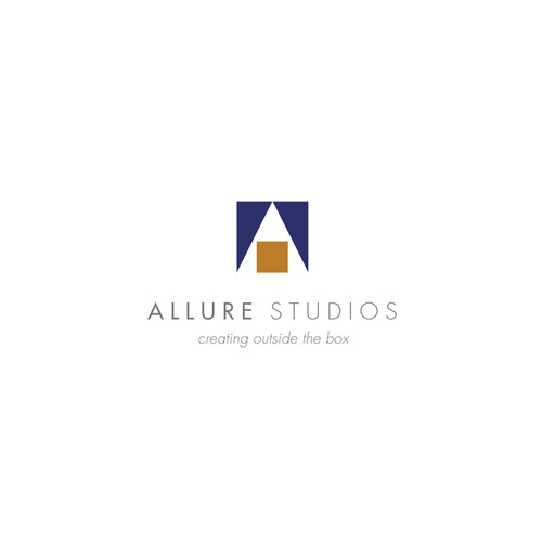 Photography studio logo with the title 'Concept for Allure Studios, a unique rental space'