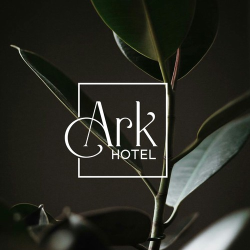 Travel agency brand with the title 'Ark hotel'