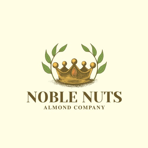 Noble design with the title 'Atlas Almonds'