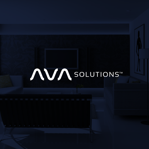 Soundwave logo with the title 'Logo concept for AVA Solutions'