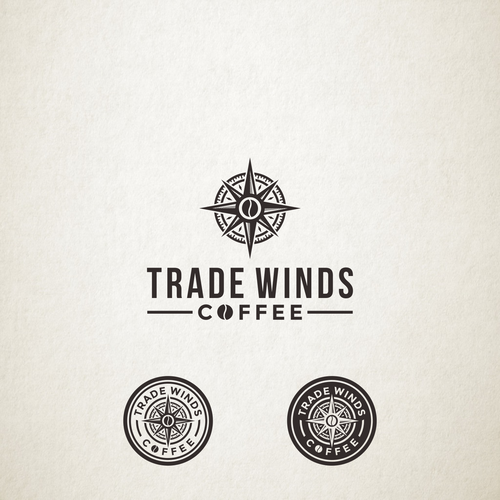 Naval logo with the title 'Logo Design for Trade Winds Coffee'