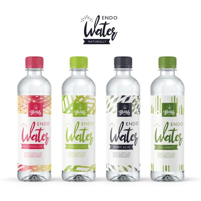Flavoured water label design