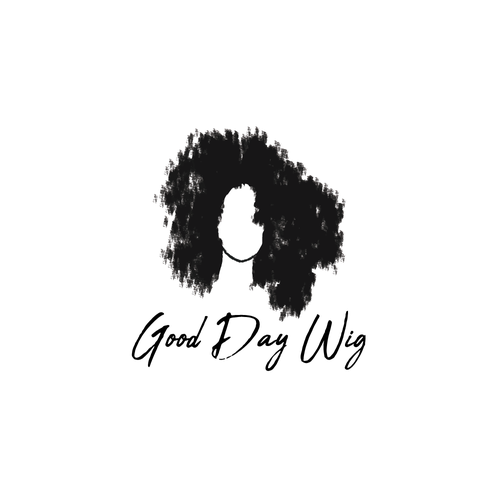 Hairstyle logo with the title 'Good Day Wig - Logo Design'