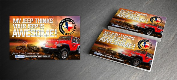 Truck design with the title 'SETX Postcard'