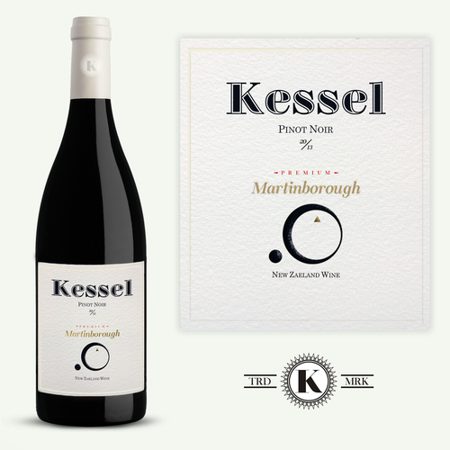 New Zealand logo with the title 'Design a captivating unique boutique wine Label KESSEL'