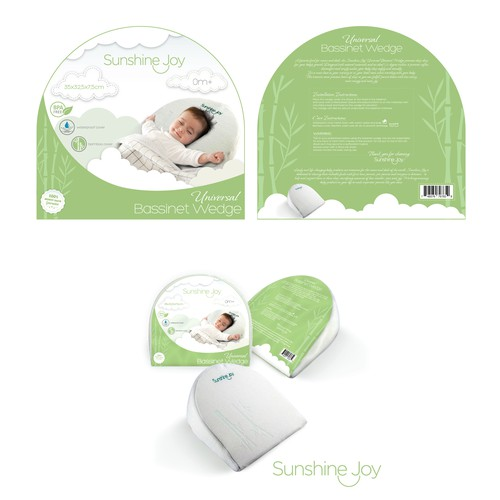 Baby packaging with the title 'Baby Bassinet Wedge packaging'