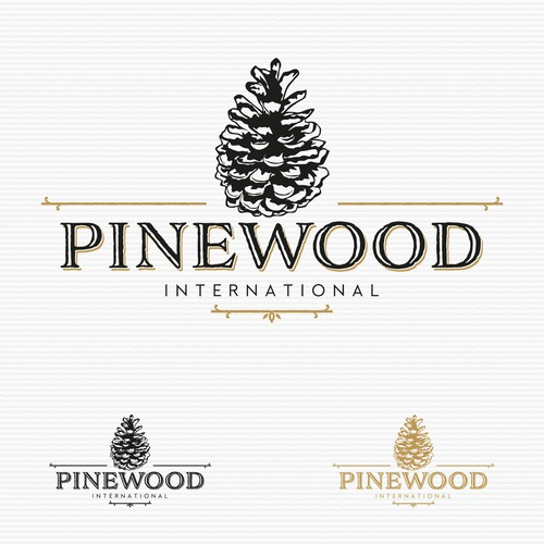 Alcohol logo with the title 'Logo for Pinewood'