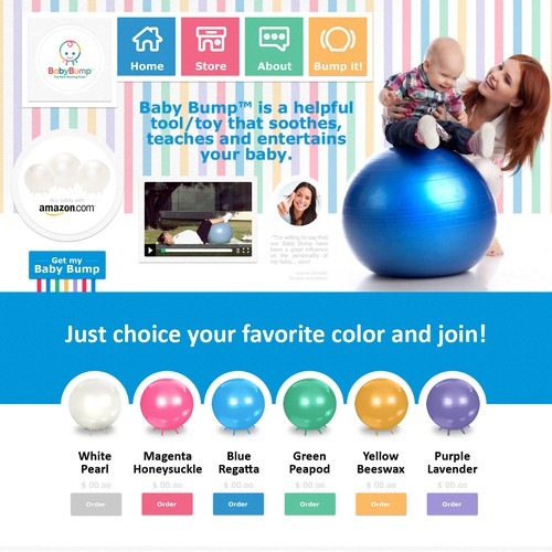 CSS3 website with the title 'WebDesign :: Baby Bump - USA'