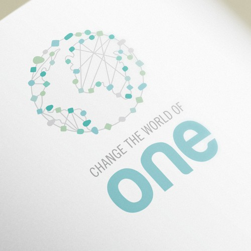 Nonprofit logo with the title 'Logo for Change the world of one'