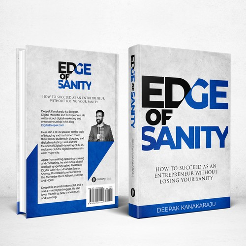 Texture design with the title 'Book cover for Edge Of Sanity'