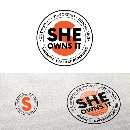 Feminist logo with the title 'Bold Stamp Logo for Women Entrepreneurs Community'