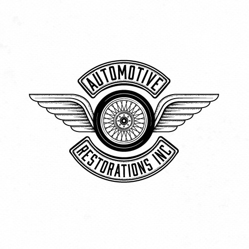 Automotive logo with the title 'Logo for automotive restorations.'