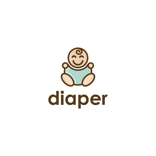 Diaper logo with the title 'Design a playful logo to help us collect infant poop for advancement of science! Yay Science!'