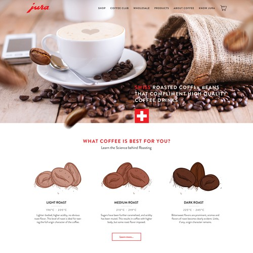 Creative website with the title 'Luxury Coffee Boutique Web Design'