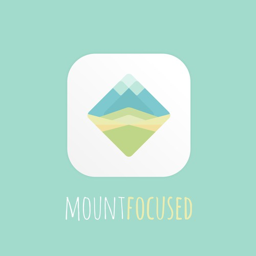 Focus design with the title 'Clean and Calm app icon for Mountfocus Apps'