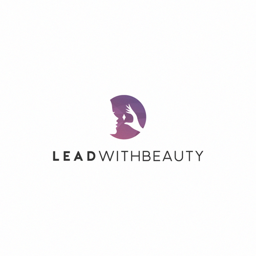Purple and pink design with the title 'Logo for beauty industry company'