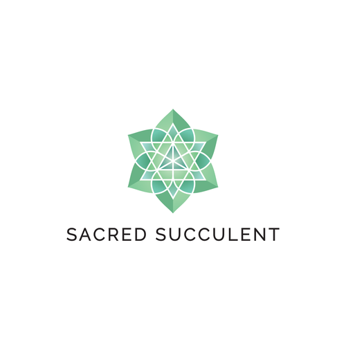 Sacred geometry logo with the title 'Sacred Succulent Logo'