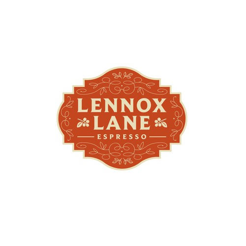 Chandelier logo with the title 'Lennox Lane Espresso Logo'