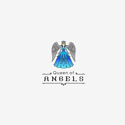 Queen logo with the title 'Queen of Angels'