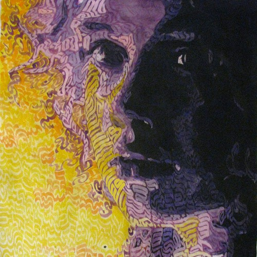 Portrait artwork with the title 'Contemporary Art work for print!'